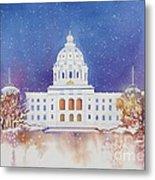 St. Paul Capitol Winter Metal Print