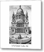 St. Paul Cathedral - London - 1792 Metal Print