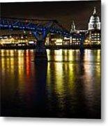 St Pauls And Millenium Bridge Metal Print