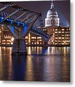 St Pauls And Millennium Bridge Metal Print