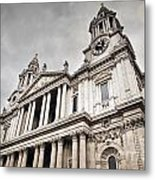 St Pauls Cathedral In London Uk Metal Print