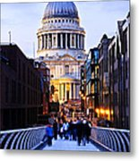St. Paul's Cathedral London At Dusk Metal Print