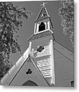St. Paul's Church Port Townsend In B W Metal Print