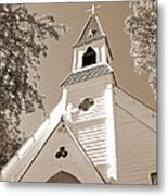 St. Paul's Church Port Townsend In Sepia Metal Print