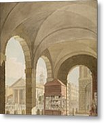 St. Pauls, Covent Garden C.1765-75 Graphite And Wc On Paper Metal Print
