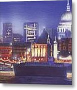St Paul's Landscape River Metal Print by MGL Meiklejohn Graphics Licensing
