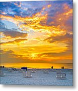 St. Pete Beach Sunset Metal Print