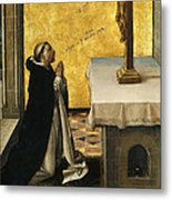 St. Peter Martyr In Prayer Metal Print