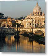 St Peter Morning Glow - Impressions Of Rome Metal Print