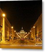 St. Peter's Basilica. Via Della Conziliazione. Rome Metal Print by Bernard Jaubert