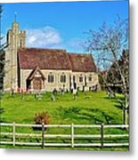 St Peters Church In Minsterworth Metal Print by Paula J James