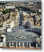 St Peter's Square Metal Print by Joan Carroll