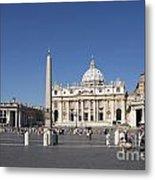 St Peter's Square. Vatican City. Rome. Lazio. Italy. Europe Metal Print