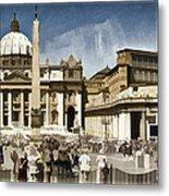 St Peters Square - Vatican Metal Print by Jon Berghoff