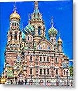 St Petersburg Church Metal Print