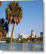 St Petersburg Florida From Mirror Lake Park Metal Print