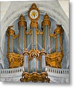 St Roch Organ In Paris Metal Print