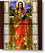 St. Stan's Stained Glass Metal Print