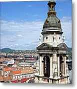 St Stephen's Basilica Bell Tower In Budapest Metal Print