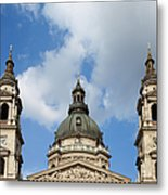St. Stephen's Basilica Dome And Bell Towers Metal Print