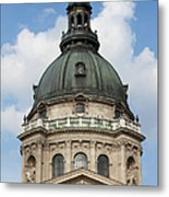 St. Stephen's Basilica Dome In Budapest Metal Print