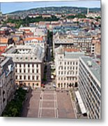 St Stephen's Square In Budapest Metal Print
