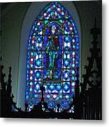 St Thomas Stained Glass Metal Print