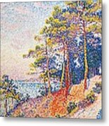 St Tropez The Custom's Path Metal Print by Paul Signac