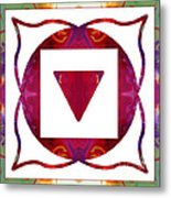 Stabilized Emotions And Thoughtful Feelings Abstract Chakra Art  Metal Print