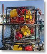 Stack Of Crab Pots Metal Print