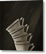 Stack Of Cups Metal Print
