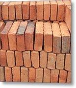 Stacked Adobe Bricks Metal Print