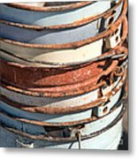 Stacked Buckets Metal Print