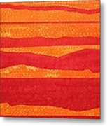 Stacked Landscapes Original Painting Metal Print
