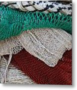 Stacked Nets And Ropes Metal Print