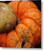 Stacked Pumpkins Metal Print