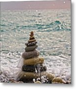 Stacking Stones Metal Print