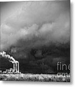 Stacks In The Clouds Metal Print