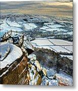 Staffordshire Winter Moorland Metal Print