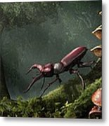 Stag Beetle Metal Print by Daniel Eskridge