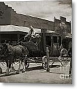 Stage Coming Through Tombstone Metal Print