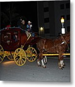 Stagecoach And Horses Metal Print
