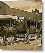 Stagecoach In Old West Arizona Metal Print