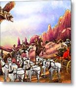 Stagecoach Robbery Metal Print
