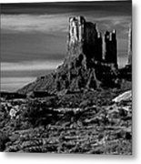 Stagecoach Rock Monument Valley Metal Print