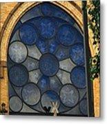 Stain Glass Church Window Metal Print