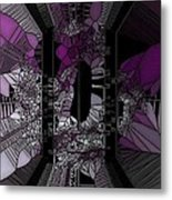 Stain Glass Metal Print