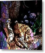 Stain Glass Motif Metal Print
