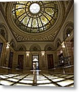 Stain Glass Rotunda Metal Print