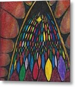 Stain Glass Window Drawing Metal Print by Cim Paddock